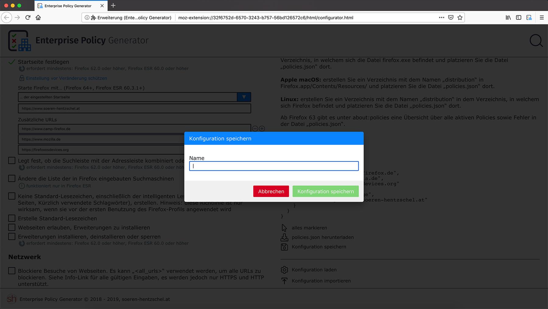 Firefox-Erweiterungen von Sören Hentzschel, kostenlos und Open Source